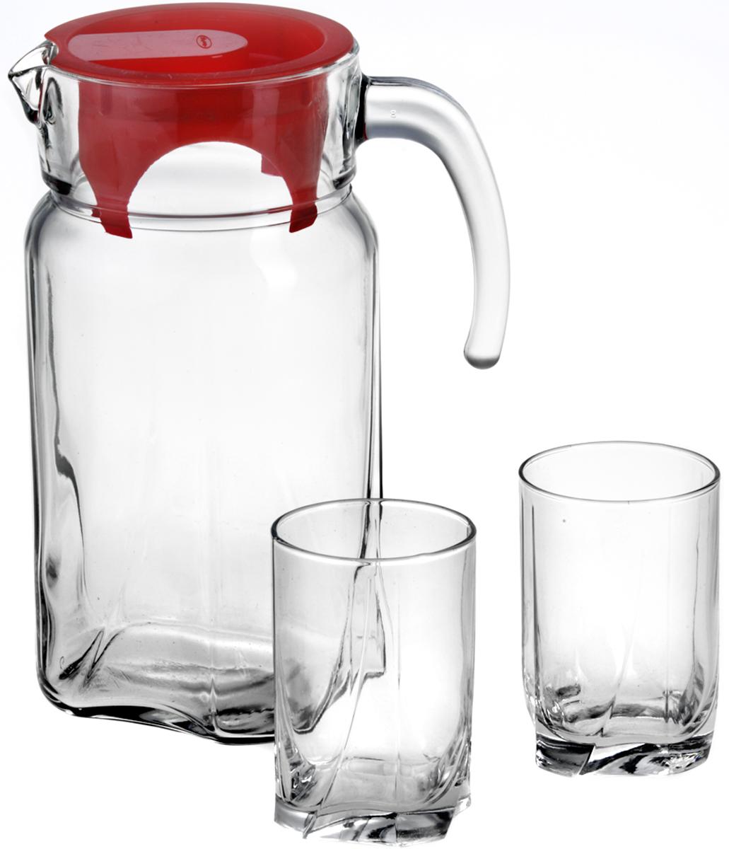 Набор питьевой Pasabahce Луна, 7 предметов97328BПитьевой набор Pasabahce Луна состоит из 6 стаканов и кувшина. Изделия выполнены из высококачественного прочного стекла. Набор прекрасноподходит для сока, воды, лимонада и других напитков. Изделия устойчивы к повреждениям и истиранию, в процессе эксплуатации не впитывают запахии сохраняют первоначальные краски. Можно мыть в посудомоечной машине.Объем кувшина: 1,7 л.Размер кувшина: 17 х 11,5 х 23,5 см. Объем стакана: 255 мл.Размер стакана: 6,8 х 6,8 х 10 см.
