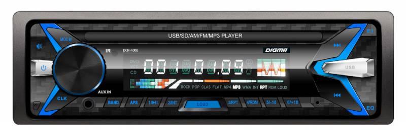 Купить Digma DCR-400G, Black автомагнитола