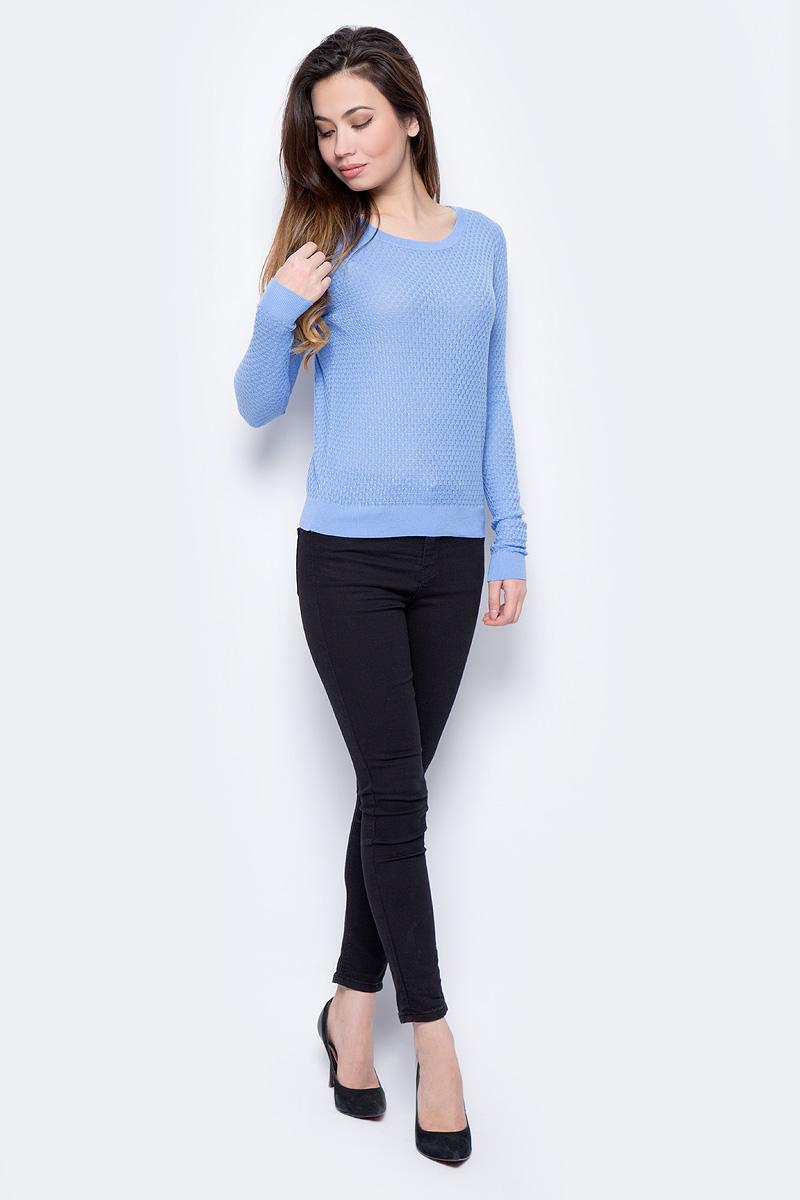 Джемпер женский Sela, цвет: небесно-голубой. JR-114/693-8182. Размер M (46)JR-114/693-8182