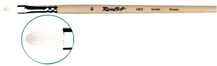 Roubloff Кисть 1M32 синтетика и щетина овальная № 10 длинная ручкаЖМ3-10,02БКисть овальная, жесткая из смеси щетины и синтетики на длинной лакированной деревянной ручке с хромированной обоймой серебряного цвета.