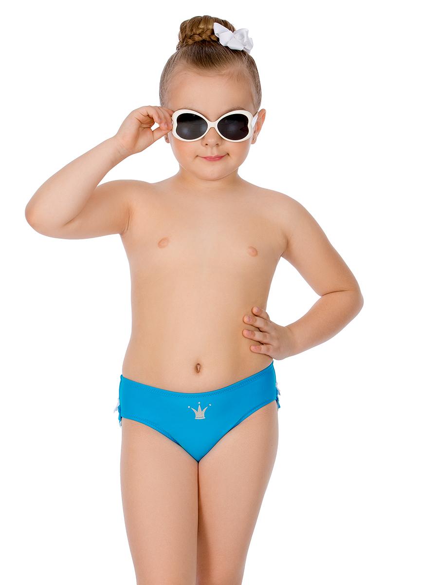 Купальные плавки для девочки Arina Nirey, цвет: голубой. GP 071801. Размер 116/122