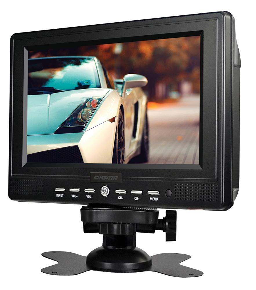 Digma DCL-700, Black автомобильный телевизорDCL-700Яркость: 300 кд/м2 Контраст к 1: 400 Формат экрана: 16:9 Угол обзора вертикальный: 135 ° Угол обзора горизонтальный: 135 ° Встроенная акустика: да Разъем для внешней антенны: да