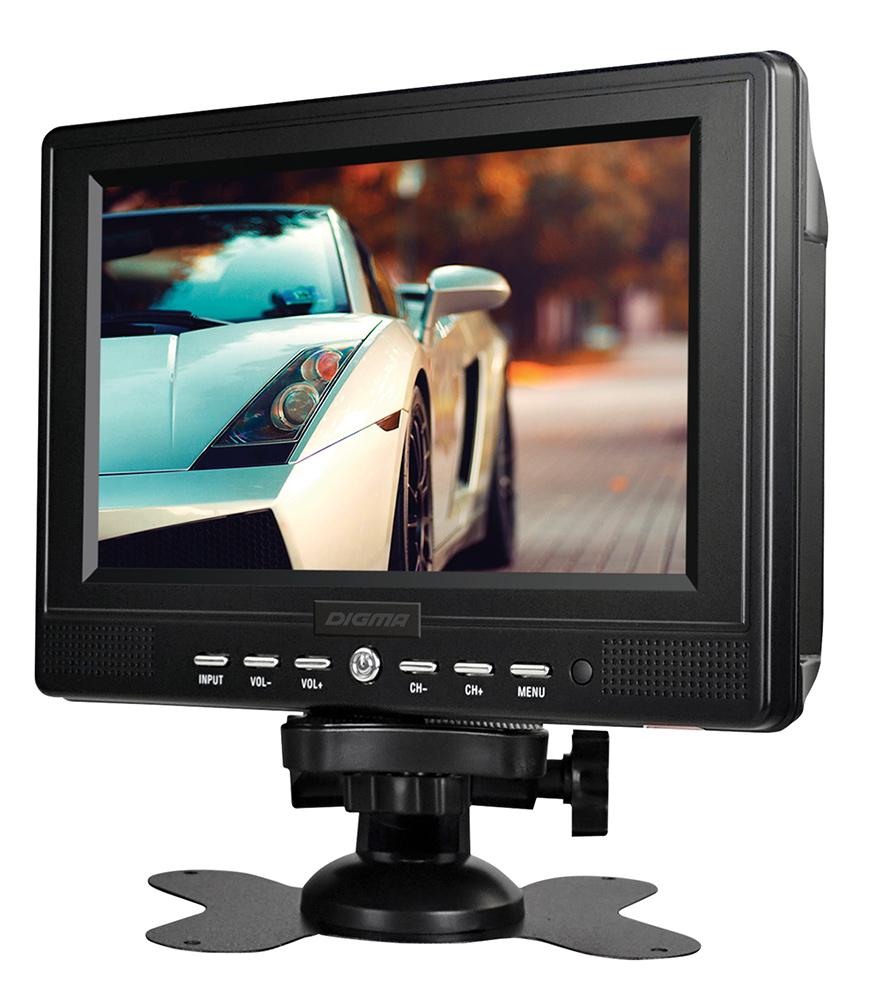 Digma DCL-720, Black автомобильный телевизор телевизор digma dm led24r201bt2 black