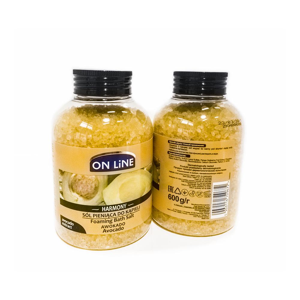 Forte Sweden On Line Соль для ванны Авокадо, 600 г985254Ароматическая соль для ванны с экстрактом авокадо, обогащенная натуральными растительными экстрактами, а также ценными эфирными маслами. Отлично освежает и обеспечивает чувство релаксации.