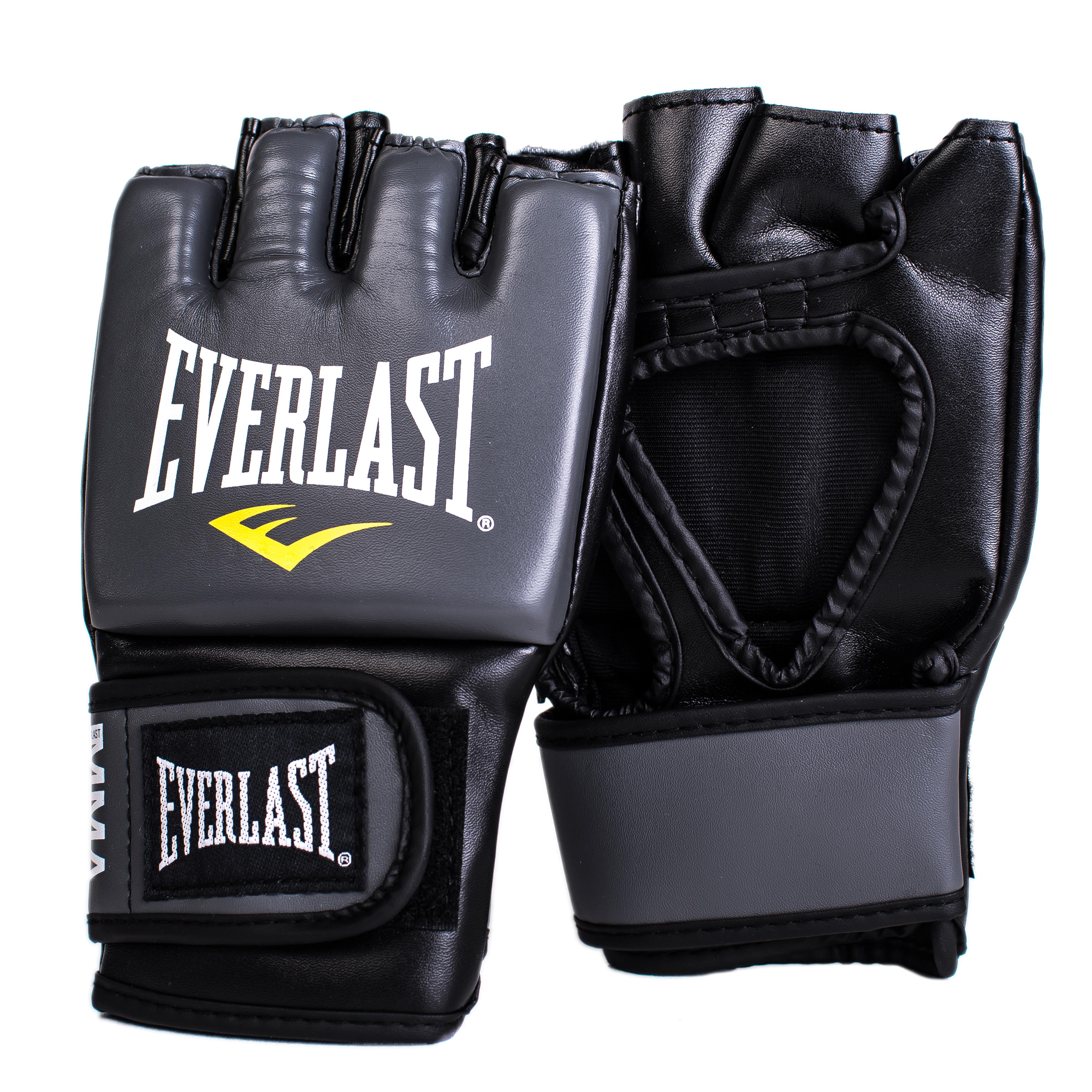 Перчатки тренировочные Everlast Pro Style Grappling, цвет: серый. Размер L/XL7778GLXLUПерчатки Pro Style Grappling в новом дизайне предназначены для смешанных единоборств! Эргономичное строение перчатки позволяет достичь максимальной гибкости и комфорта. Регулируемый ремешок на липучке позволяет подогнать под нужный размер запястья. Перчатки выполнены из высококачественной синтетической кожи.