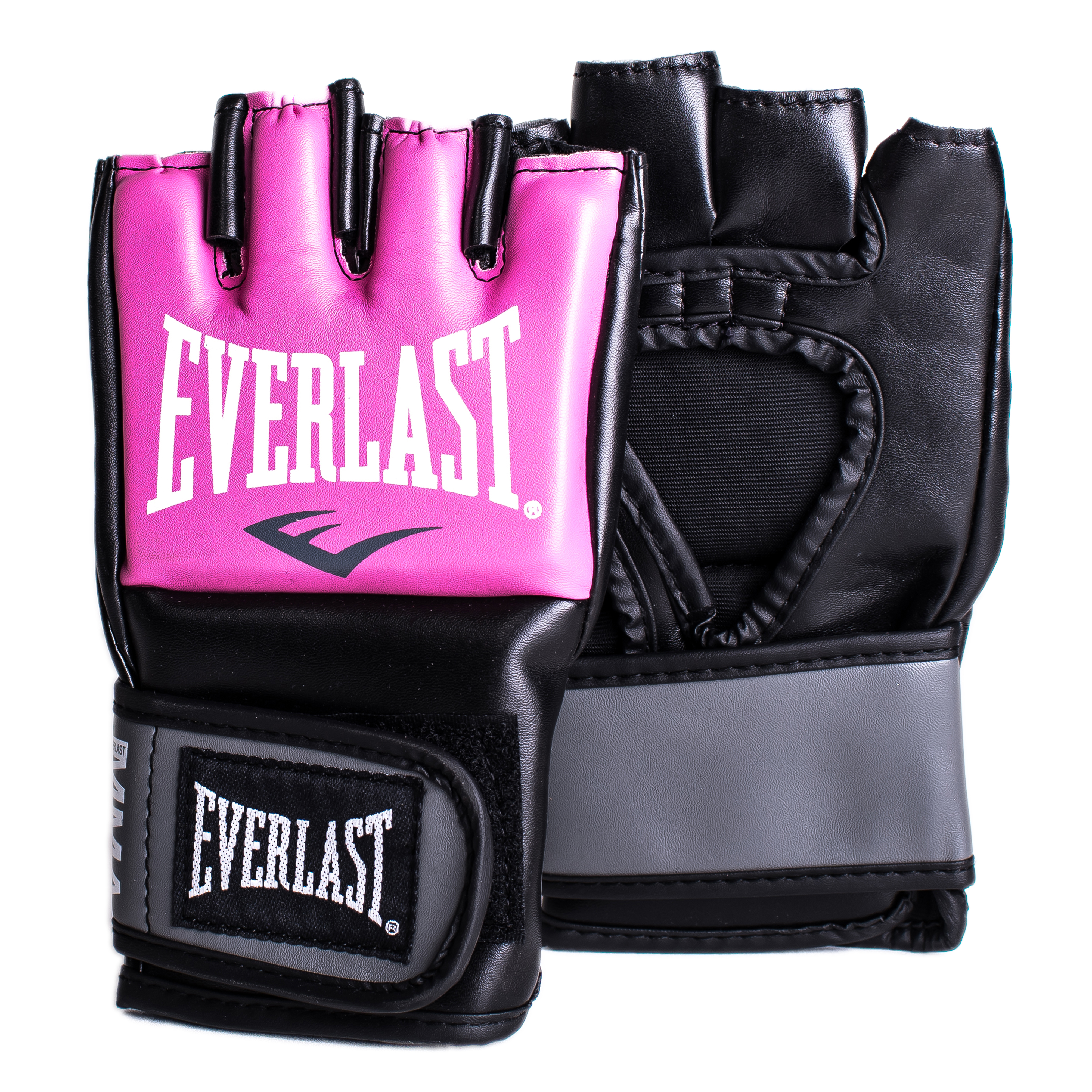 Перчатки тренировочные Everlast Pro Style Grappling, цвет: розовый. Размер S/M7778PSMUПерчатки Pro Style Grappling в новом дизайне предназначены для смешанных единоборств! Эргономичное строение перчатки позволяет достичь максимальной гибкости и комфорта. Регулируемый ремешок на липучке позволяет подогнать под нужный размер запястья. Перчатки выполнены из высококачественной синтетической кожи.