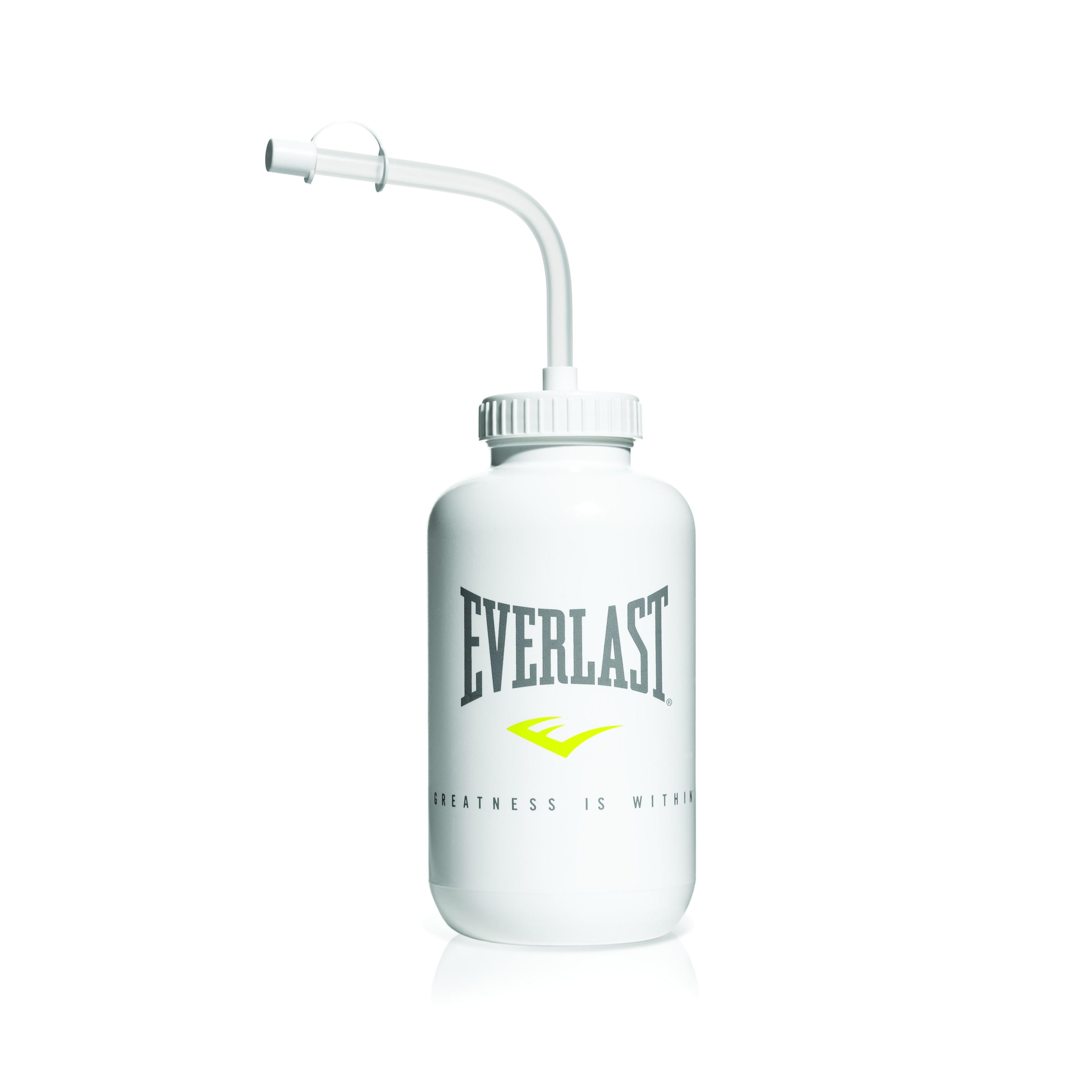 Бутылка спортивная Everlast, цвет: белый, 900 млEVBOTTLEШирокое горлышко позволяет наполнить бутылку не только водой, но и кубиками льда. Бутылка снабжена изогнутой трубочкой со специальным колпачком, чтобы избежать утечки жидкости. Бутылка сохраняет отличную устойчивость, даже если пустая.