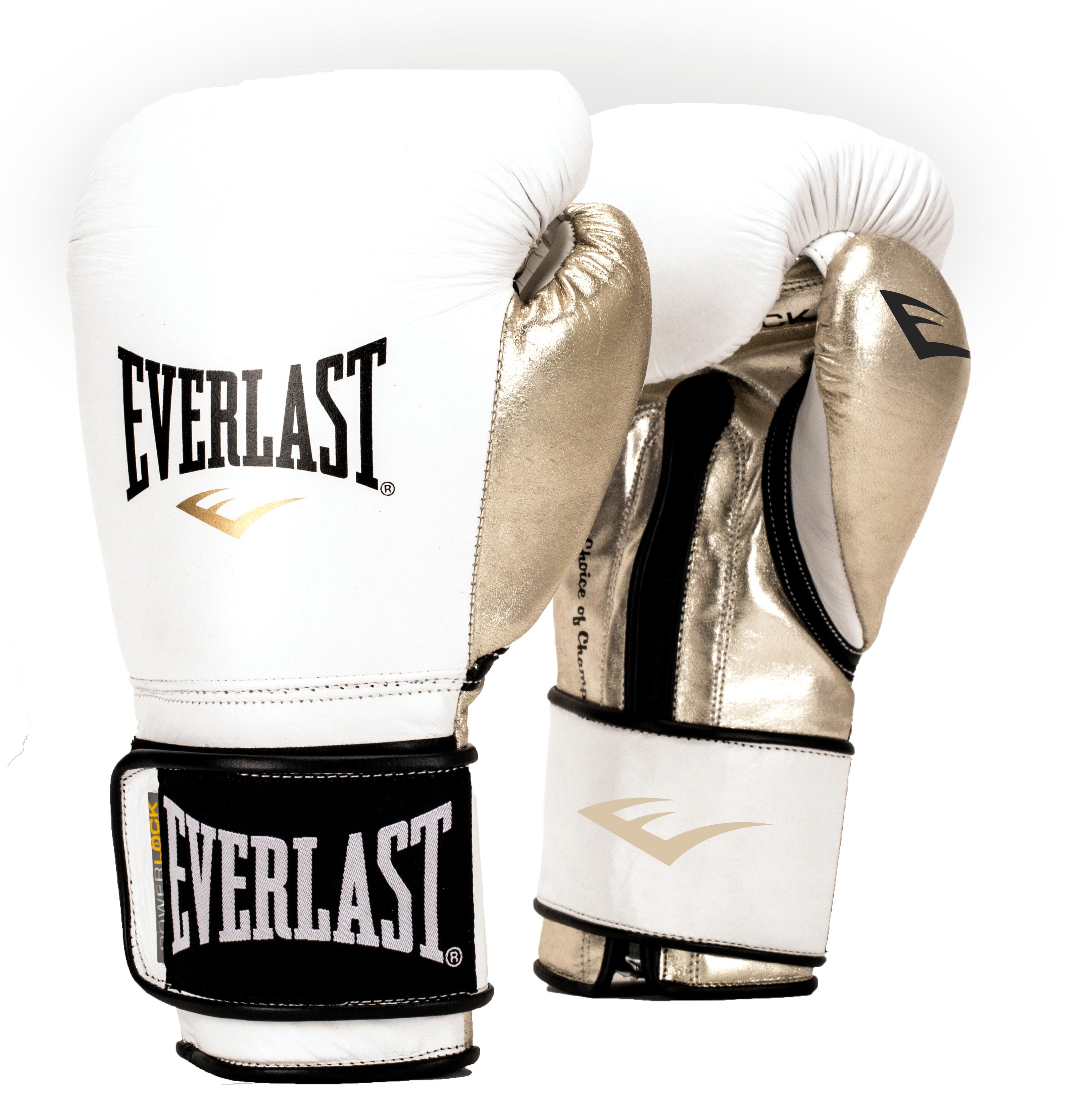 Перчатки тренировочные Everlast Powerlock, цвет: белый, золотой. Вес 12 унцийP00000722Новая линейка тренировочных перчаток для бокса PowerLock. Изготовлены из искусственной кожи в обновленной цветовой гамме. Являются сочетанием инновационных технологий изготовления и традиционной передовой технологии PowerLock.