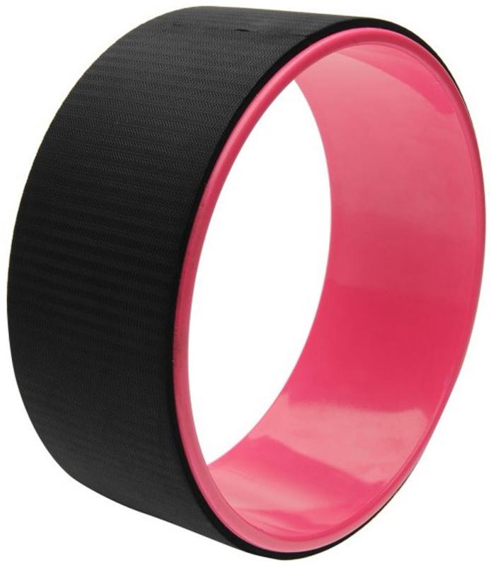 Колесо для йоги Indigo, цвет: розовый, черный, диаметр 32 см indigo коврик для йоги indigo