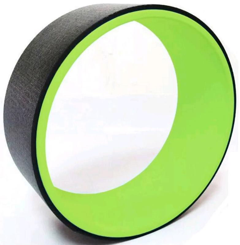 Колесо для йоги  Indigo , цвет: зеленый, черный, диаметр 32 см - Фитнес