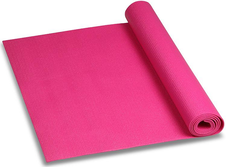 Коврик для йоги и фитнеса Indigo, цвет: цикламен, 173 х 61 х 0,3 см коврик гимнастический kettler цвет голубой 173 х 61 см