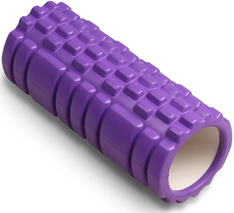 Ролик массажный для йоги  Indigo , цвет: фиолетовый, 14 х 33 см - Фитнес