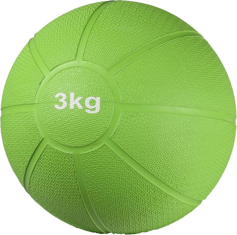 Медицинбол Indigo, цвет: зеленый, 3кг00021427Медицинбол Indigo - гимнастический тренажер в виде мяча. Обычно с набивным мячом медицинским делают разнообразные маховые движения и перебрасывают друг другу. В спорте используется при восстановлении подвижности суставов и тонуса мышц после травм, а также в различных имитационных движениях всевозможных бросков и толчков, в качестве дополнительного отягощения при занятиях ОФП. Тренировочный мяч для динамичных бросков прекрасно подойдет для занятий фитнесом, аэробикой, используется для занятий кроссфитом. Медицинбол (медбол) способствует сжиганию жира, развитию гибкости и координации, повышает эффективность развития взрывной силы. Для домашних упражнений рекомендуются набивные мячи от 1 до 3 килограммов, медболы 4-5 кг рекомендуются для фитнес тренировок. Следует выбирать вес мяча медицинбола в соответствии с Вашей физической подготовкой. Качественный медицинбол Indigo - это выгодное приобретение для фитнес залов, спортивных магазинов и кабинетов ЛФК. При упражнениях следует уделить особое внимание дыханию. В момент нагрузки осуществляется вдох ртом, на расслабление выдох носом.