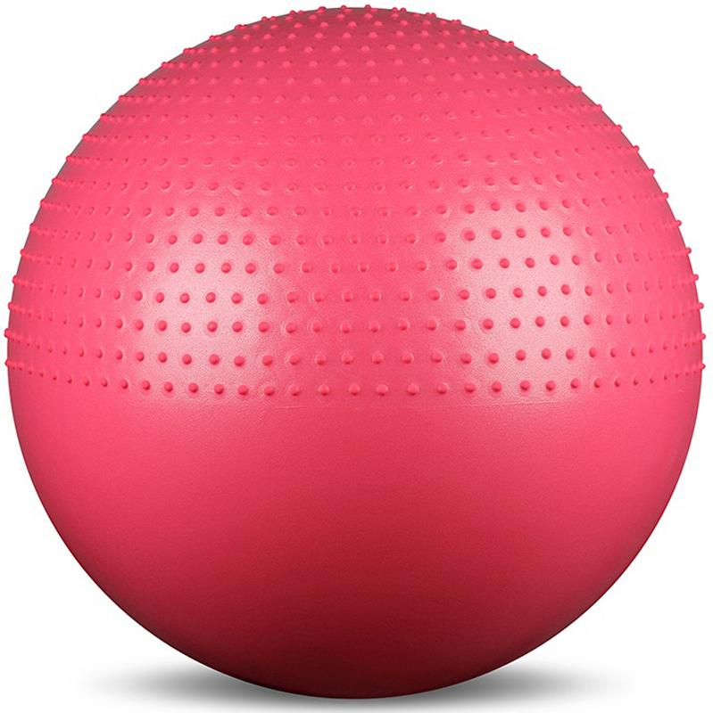 Мяч гимнастический Indigo Anti-burst, массажный, с ручным насосом, диаметр 75 см мяч для фитнеса bradex массажный 75 см