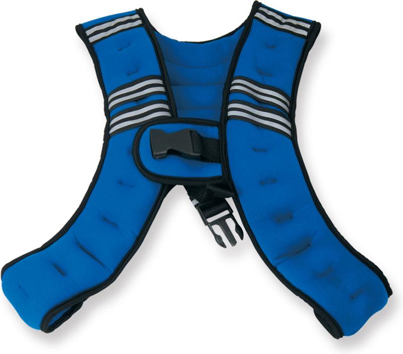 Жилет-утяжелитель Indigo  Кроссфит , цвет: синий, 5 кг - Инвентарь
