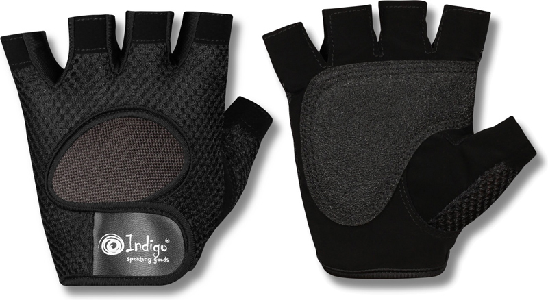Перчатки атлетические Indigo, цвет: черный. Размер XL00022825Атлетические перчатки женские - созданы для защиты рук во время тренировок на тренажерах. Перчатки атлетические обеспечивают комфорт и безопасность во время интенсивных тренировок. Перчатки для фитнеса предотвращают появление мозолей. Позволяют надежнее фиксировать снаряд в руках. Тыльная сторона атлетических перчаток INDIGO SB-16-1967 изготовлена из хлопка и имеет сетчатую структуру для вентиляции и отвода влаги. Внутренняя сторона из специальной износостойкой кожи, обеспечивающая надежное сцепление рук и спортивного снаряда во время тренировки. Женские атлетические перчатки INDIGO SB-16-1967 закупки имеют меньшие размеры. Благодаря застежке на липучке атлетические перчатки плотно сидят на руках, не мешая комфортной тренировке. Пальцы открыты. Усиление ладони дополнительной вставкой- накладками. Они увеличивают прочность перчаток для фитнеса и улучшают сцепление с грифом. Застежка Stick для фиксации на руке. Модели фитнес перчаток с фиксатором для запястья понадобятся при работе с большими весами или выполнении упражнений с узким хватом. Перчатки для тренировок в тренажерном зале являются важным аксессуаром, влияющим на уменьшение травматизма и повышение концентрации нагрузок на определенные группы мышц.