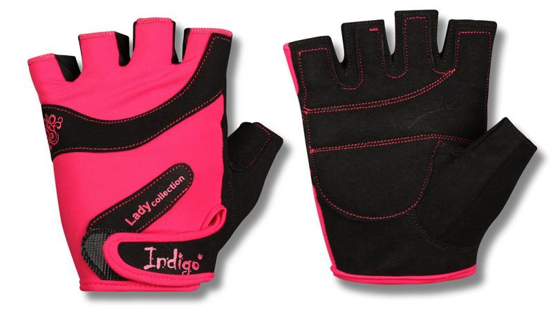 Перчатки атлетические  Indigo , цвет: розовый, черный. Размер M - Одежда, экипировка