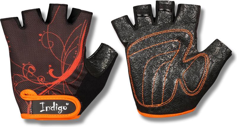 Перчатки атлетические Indigo, цвет: черный, оранжевый. Размер L00023257Атлетические перчатки женские созданы для защиты рук во время тренировок на тренажерах. Перчатки атлетические обеспечивают комфорт и безопасность во время интенсивных тренировок. Перчатки для фитнеса предотвращают появление мозолей. Позволяют надежнее фиксировать снаряд в руках. Тыльная сторона атлетических перчаток Indigo изготовлена из хлопка и имеет сетчатую структуру для вентиляции и отвода влаги. Внутренняя сторона из специальной износостойкой кожи, обеспечивающая надежное сцепление рук и спортивного снаряда во время тренировки. Женские атлетические перчатки Indigo имеют меньшие размеры. Благодаря застежке на липучке атлетические перчатки плотно сидят на руках, не мешая комфортной тренировке. Пальцы открыты. Усиление ладони дополнительной вставкой с накладками. Они увеличивают прочность перчаток для фитнеса и улучшают сцепление с грифом. Застежка Stick для фиксации на руке. Модели фитнес-перчаток с фиксатором для запястья понадобятся при работе с большими весами или выполнении упражнений с узким хватом. Перчатки для тренировок в тренажерном зале являются важным аксессуаром, влияющим на уменьшение травматизма и повышение концентрации нагрузок на определенные группы мышц.