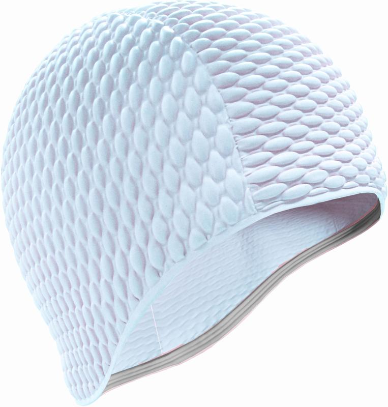 Шапочка для плавания Indigo Bubble, женская, цвет: белый очки для плавания indigo g1800 1808 антиф силикон фиолетовый