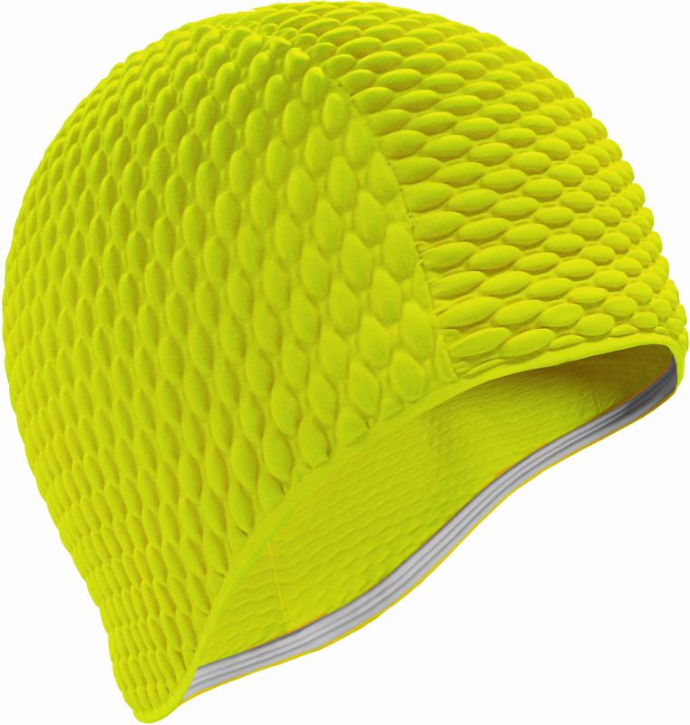 Шапочка для плавания Indigo Bubble, женская, цвет: желтый00020212Женская резиновая шапочка для плавания Indigo Bubble.За счет пузырьков шапочка намного более эластичная и не сдавливает голову, легкоодевается и снимается, не причиняя вреда волосам. Шапочка имеет оригинальный внешнийвид.Высококачественная резина, из которого изготовлена шапочка, гарантирует долгий срокслужбы при условии бережного использования.Шапочка для плавания защищает волосы от намокания, позволяя волосам оставатьсяотносительно сухими. Плавательная шапочка помогает подчеркнуть индивидуальность,удачно гармонирует с купальным костюмом.