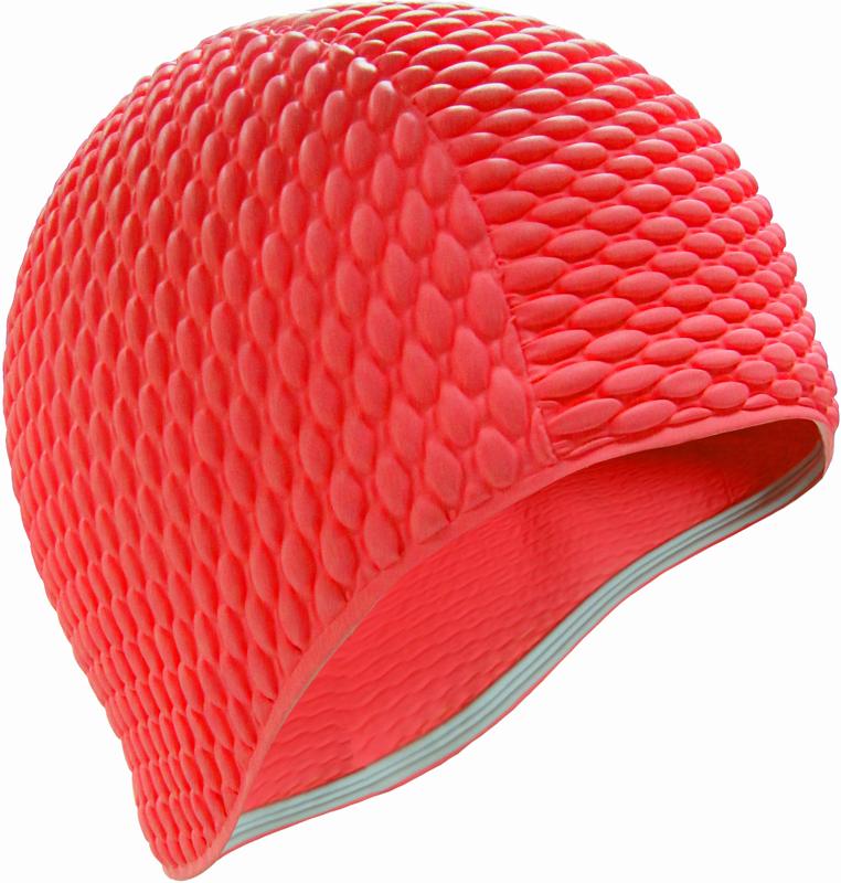 Шапочка для плавания Indigo Bubble, женская, цвет: красный очки для плавания indigo g1800 1808 антиф силикон фиолетовый