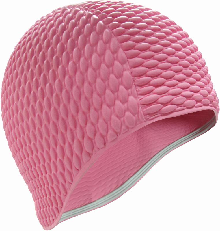 Шапочка для плавания Indigo Bubble, женская, цвет: розовый очки для плавания indigo g1800 1808 антиф силикон фиолетовый