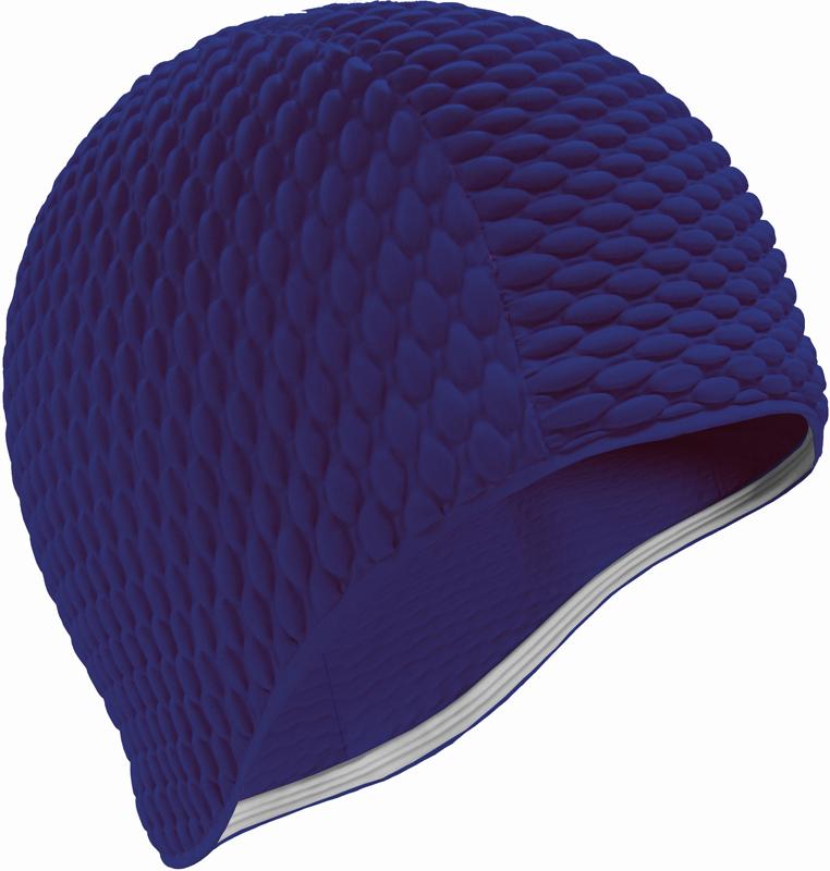 Шапочка для плавания Indigo Bubble, женская, цвет: темно-синий очки для плавания indigo g1800 1808 антиф силикон фиолетовый