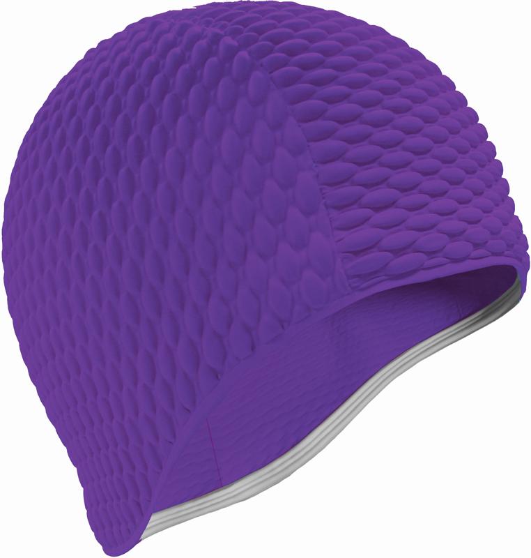 Шапочка для плавания Indigo Bubble, женская, цвет: фиолетовый очки для плавания indigo g1800 1808 антиф силикон фиолетовый