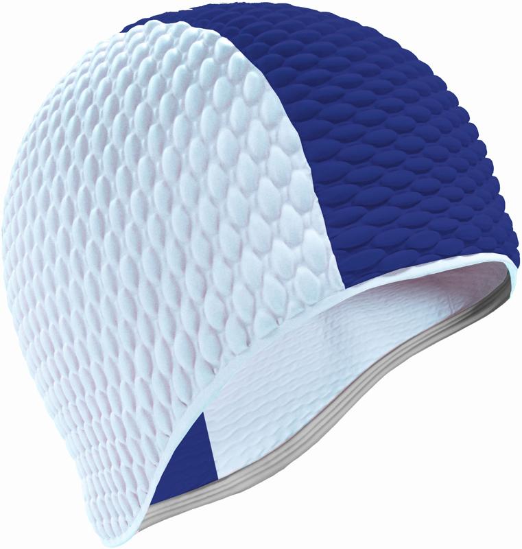 Шапочка для плавания Indigo Bubble, мужская, цвет: синий, белый очки для плавания indigo g1800 1808 антиф силикон фиолетовый