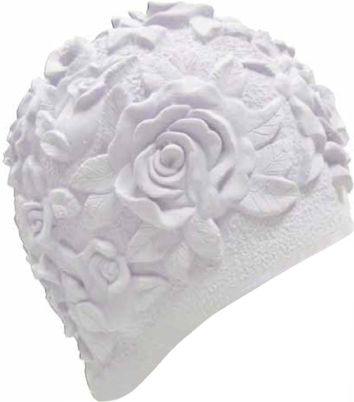 Шапочка для плавания Indigo Объемный рисунок. Розы, цвет: белый очки для плавания indigo g1800 1808 антиф силикон фиолетовый