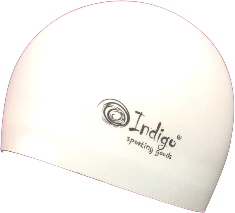 Шапочка для плавания Indigo Silicone. 3D форма, цвет: белый ip камера rvi rvi ipc32ms ir v 2