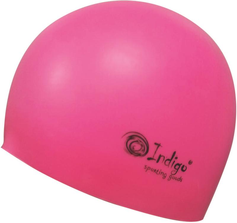 Шапочка для плавания Indigo Silicone. 3D форма, цвет: розовый