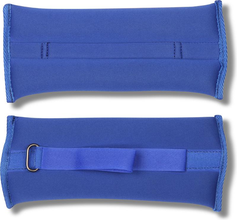 Утяжелитель спортивный Indigo Неопреновые, цвет: синий, 0,5 кг, 2 шт утяжелитель браслет для рук и ног indigo цвет красный 0 2 кг 2 шт