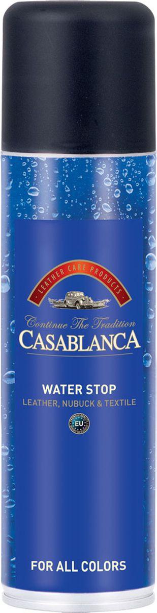 Спрей водоотталкивающий Casablanca Professional1604Спрей водоотталкивающий Casablanca Professional защищает и оберегает все виды обуви от влаги, снега, соли и жирных пятен.Подходит для изделий из натуральной и искусственной кожи, замши и нубука.Для всех цветов.Инструкция по применению: всегда используйте спрей так, как показано на этикетке.Баллон при распылении держите вертикально, клапаном вверх.Протестировать на небольшом участке, затем равномерно распылить по всей поверхности.Для наилучшей защиты используйте Water Stop Spray регулярно.