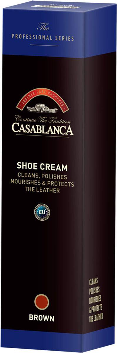 Крем-воск Casablanca Professional для полировки обуви, цвет: коричневый1608Крем-воск Casablanca Professional для полировки обуви питает и защищает кожу, обеспечивая блеск и яркость.Как использовать: очистить обувь и нанести крем с помощью губки-аппликатора.Дать крему хорошо впитаться в кожу, и затем полировать щеткой или шерстяной тканью до получения желаемого блеска.После использования промыть губку-аппликатор теплой водой, чтобы она не затвердевала.