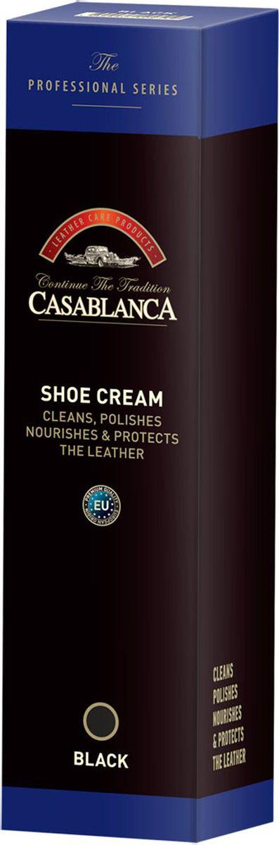 Крем-воск Casablanca Professional для полировки обуви, цвет: черный1607Крем-воск Casablanca Professional для полировки обуви питает и защищает кожу, обеспечивая блеск и яркость.Как использовать: очистить обувь и нанести крем с помощью губки-аппликатора.Дать крему хорошо впитаться в кожу, и затем полировать щеткой или шерстяной тканью до получения желаемого блеска.После использования промыть губку-аппликатор теплой водой, чтобы она не затвердевала.