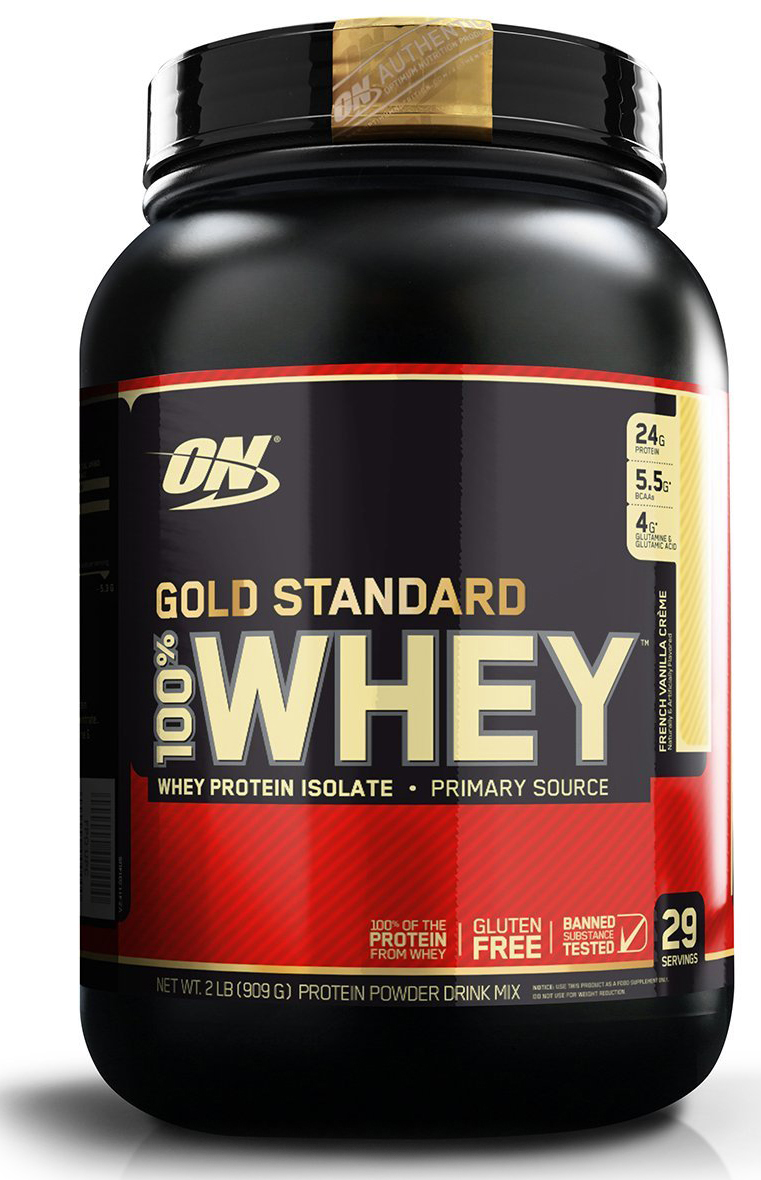 Протеин Optimum Nutrition 100% Whey Protein Gold Standard, ваниль, 900 г