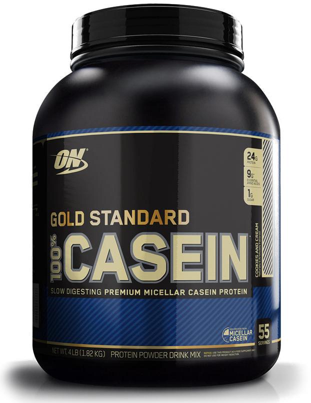 Казеин Optimum Nutrition 100% Casein Protein, печенье, 1,81 кг748927024289100% Casein Gold Standard от Optimum Nutrition - это мицеллярный протеин с медленным усвоением + глютамин!Иногда медленнее - лучше, особенно, когда речь идет о скорости усвоения протеина. В то время как быстрое усвоение протеина нужно непосредственно до и после тренировки, медленное высвобождение желательно в остальное время. Казеиновый протеин чувствителен к уровню pH и кислотной среде желудка. Поэтому ему нужно в два раза больше времени для расщепления на аминокислоты по сравнению с сывороткой и прочими протеинами. Казеин - это самый распространенный протеин в коровьем молоке. Считается, что это высококачественный протеин, поскольку он легко ассимилируется и дает достаточное количество аминокислот, которые не могут быть синтезированы самим организмом. Еще одно полезное свойство казеина заключается в том, что он дает чувство сытости. Казеин оказывает легкое давление на стенки желудка. Со стороны желудка поступают таким образом сигналы в головной мозг о том, что желудок наполнен и надо прекратить есть. Казеин усваивается медленнее всех прочих типов протеина. Это позволяет создать эффект медленного высвобождения, то есть постоянный приток аминокислот в мышцы на протяжении долгого периода времени. Бодибилдеры и атлеты, стремящиеся нарастить чистую мышечную массу, сократят время восстановления и смогут избежать мышечного разрушения благодаря 100% Casein Gold Standard. Также могут получить большую пользу от данного продукта лица, заинтересованные в улучшении качества своего сна.Состав: мицеллярный казеин, какао, натуральные и искусственные ароматизаторы, соль, целлюлозная камедь, ксантановое гумми, каррагинан, сукралоза.Товар сертифицирован.