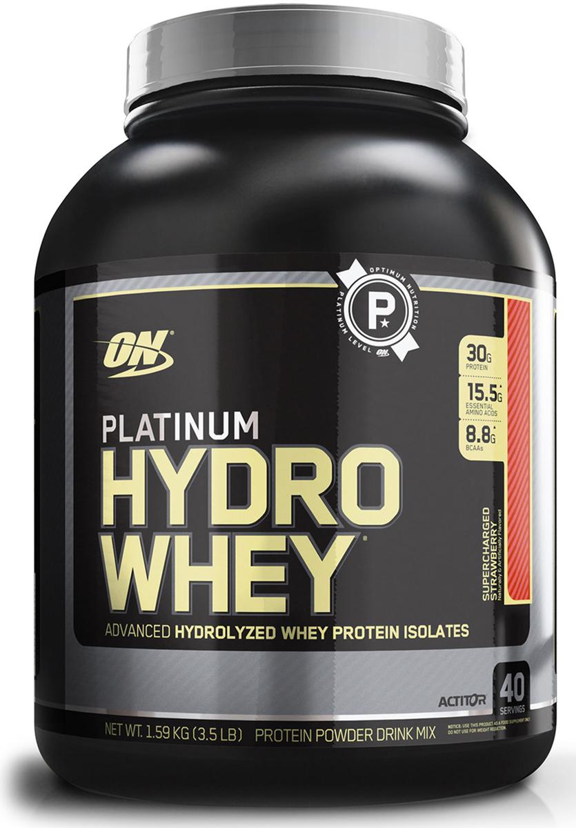 Протеин Optimum Nutrition Platinum HydroWhey, клубника, 1,59 кг748927026405Platinum Hydrowhey является самым быстрым, чистым и передовым сывороточным протеином из когда-либо разработанных Optimum Nutrition. Одним словом, продукт передового опыта. В частности, в этом продукте представлена новая система пищеварительных энзимов и микронизированных аминокислот с разветвленными цепочками BCAA. Помимо этого, Platinum Hydrowhey является также сверхчистым. Все дело в том, что продукт создан исключительно из гидролизированных изолятов сывороточного протеина. Поэтому в нем нет лишних жиров, холестерина и лактозы, которые могли бы замедлить процесс работы над телом. Информация для аллергиков: содержит молочные и соевые (лецитин) ингредиенты.Состав: гидролизованные изоляты сывороточных белков, микронизированные разветвленные аминокислоты bcaa (л-лейцин, л-изолейцин, л-валин), натуральные и искусственные ароматизаторы, лецитин.Товар сертифицирован.