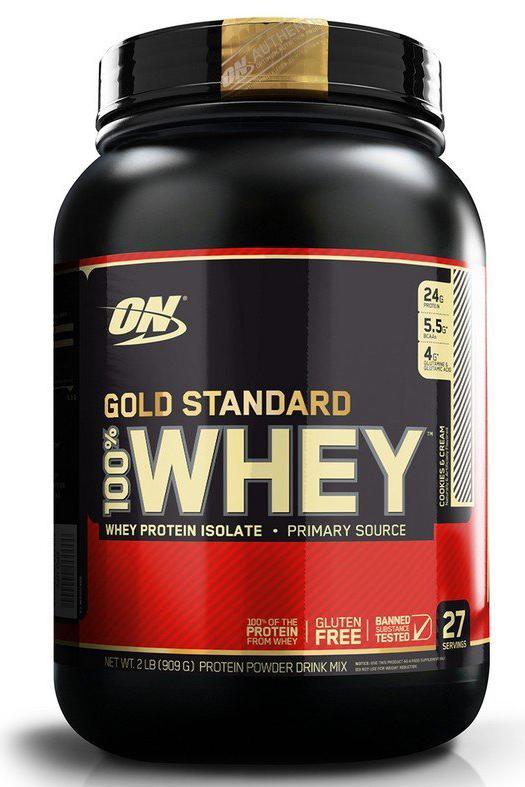 Протеин Optimum Nutrition 100% Whey Protein Gold Standard, печенье, 900 г