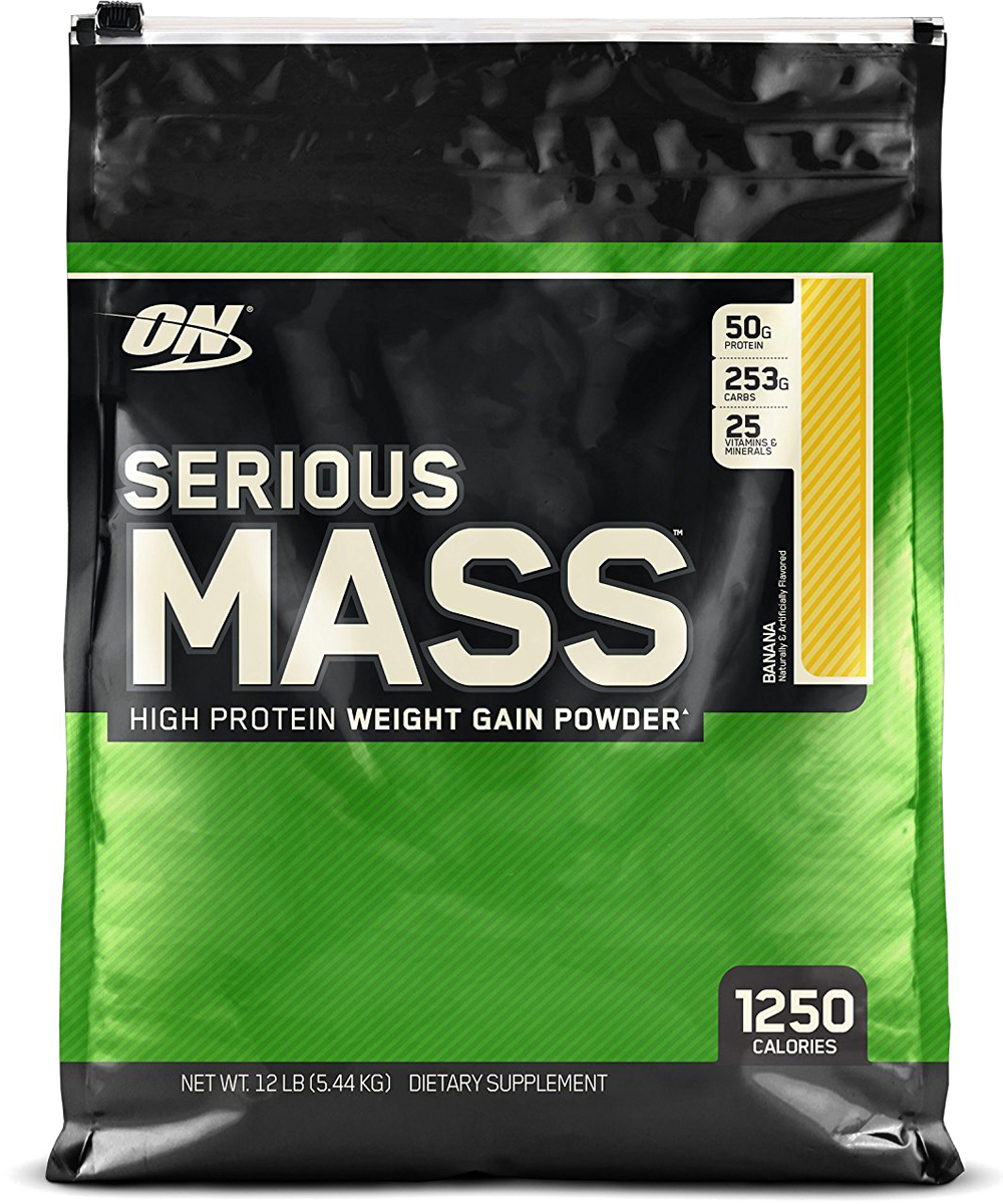 Гейнер Optimum Nutrition Serious Mass, банан, 5,44 кг