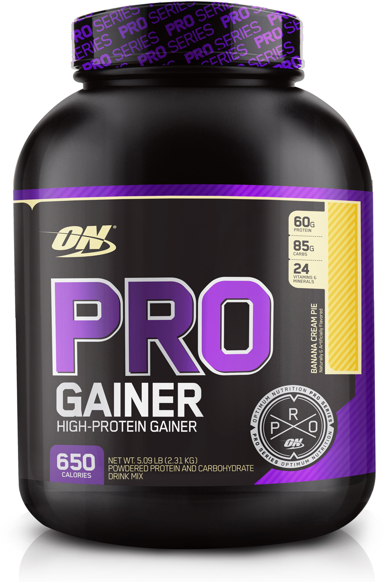 Гейнер Optimum Nutrition Pro Gainer, банан, 2,22 кг