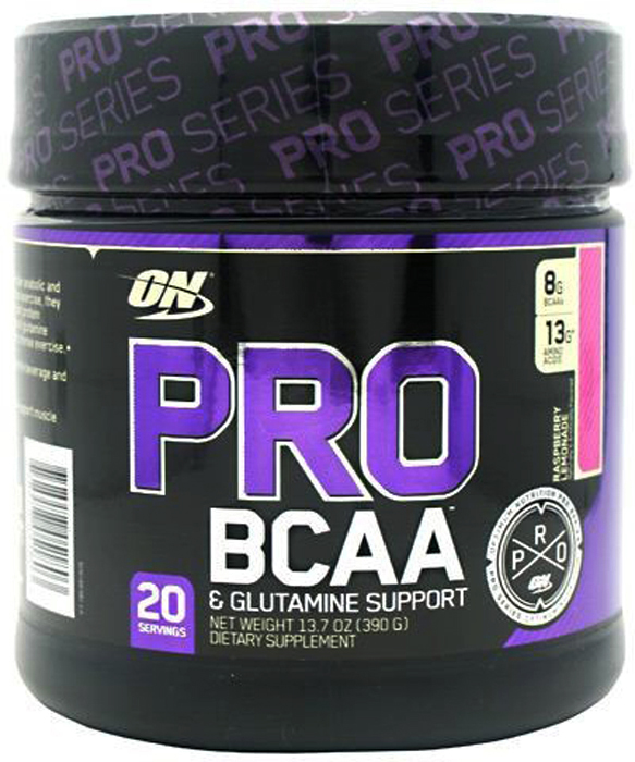 Аминокислоты Optimum Nutrition PRO BCAA, малина, 390 г