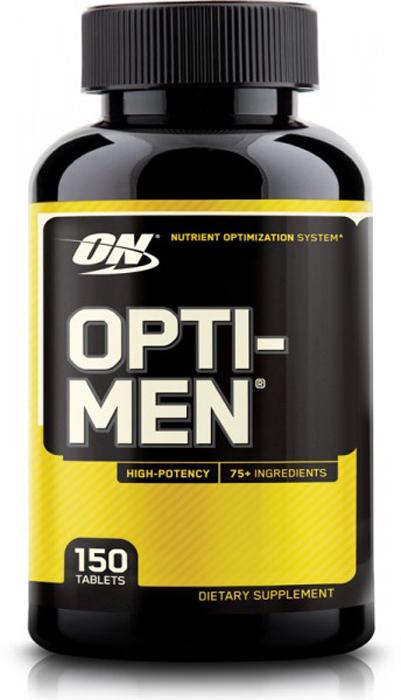 Витаминно-минеральный комплекс Optimum Nutrition Opti-Men, 150 таблеток748927052275Opti-Men от Optimum Nutrition это удивительный комплекс, специально для мужчин, содержащий в составе витамины, минералы, антиоксиданты, ферменты. Эффективен как общеукрепляющее средство. Повышает иммунитет, а так же активизирует обмен веществ, стимулирует физические, умственные, и сексуальные возможности мужчины. Отличный выбор мужчин. Теперь нет необходимости поглощать большое количество разных капсул и таблеток, держа в своем арсенале несколько различных добавок, чтобы получить дневную норму необходимых питательных веществ. Opti-Men способен обеспечить вас всем необходимым всего одной капсулой.Состав: amino blend: л-аргинин, л-глютамин, л-валин, л-лейцин, л-изолейцин, л-цистин, л-лизин, л-треонин; viri blend: saw palmetto (ягоды), damiana (листья), корейский женьшень (корень), pygeum africanum (кора), ginkgo biloba (листья), raw oyster concentrate, nettles (листья), pumpkin seed; phyto blend: цитрусовые биофлавоноиды (плод), deodorized garlic, зеленый чай, экстракт виноградного семени (vitis vinifera) (семя); enzy: папаин, бромелаин, альфа амилаза, липаза; микрокристаллическая целлюлоза, стеариновая кислота, кроскармеллоза натрия, фармацевтическая глазурь no. 2, стеарат магния, диоксид кремния; содержит моллюсков.Товар сертифицирован.