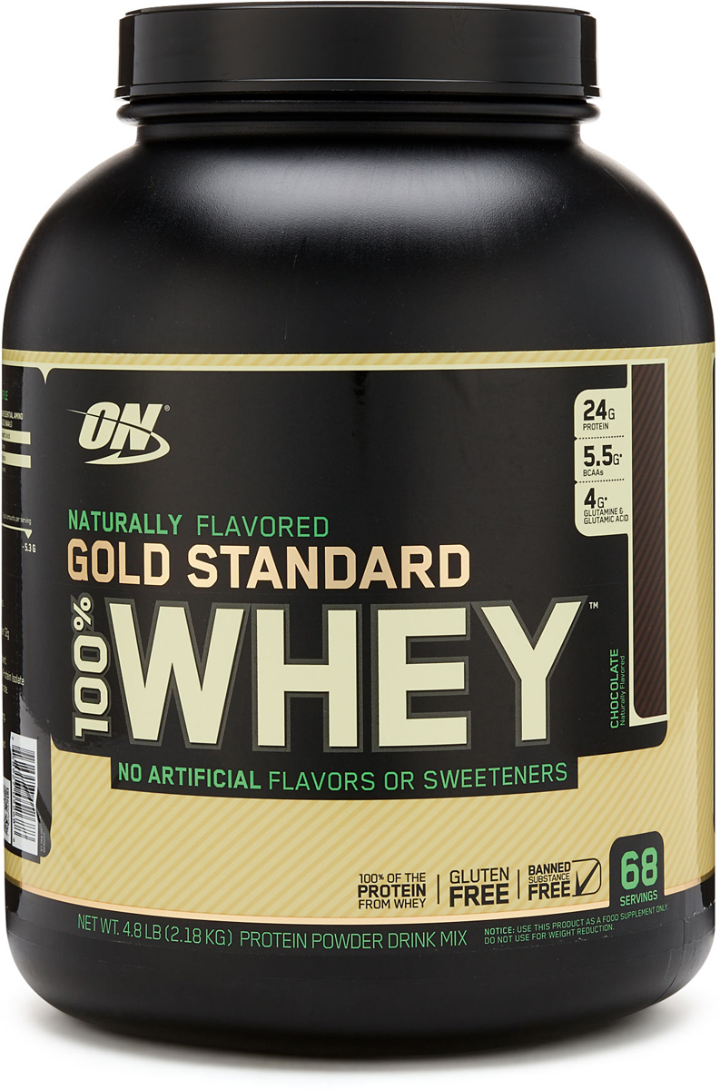 Протеин Optimum Nutrition 100% Natural Whey Gold Standard Gluten Free, шоколад, 2,17 кг whey isolate