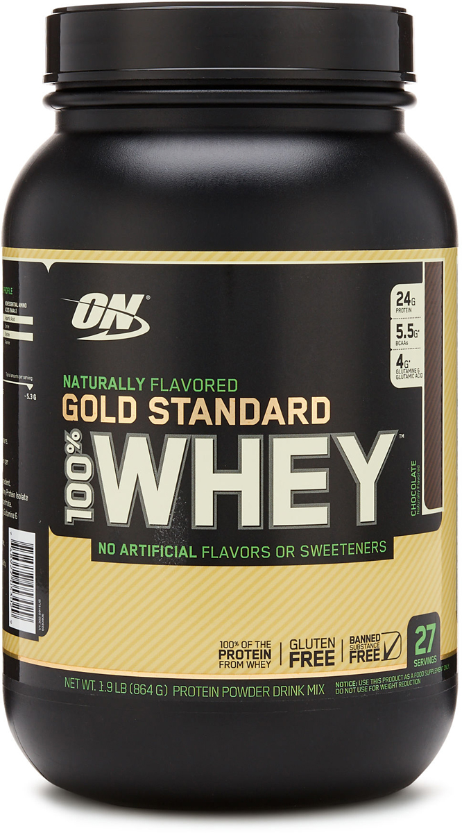 Протеин Optimum Nutrition 100% Natural Whey Gold Standard Gluten Free, шоколад, 860 г