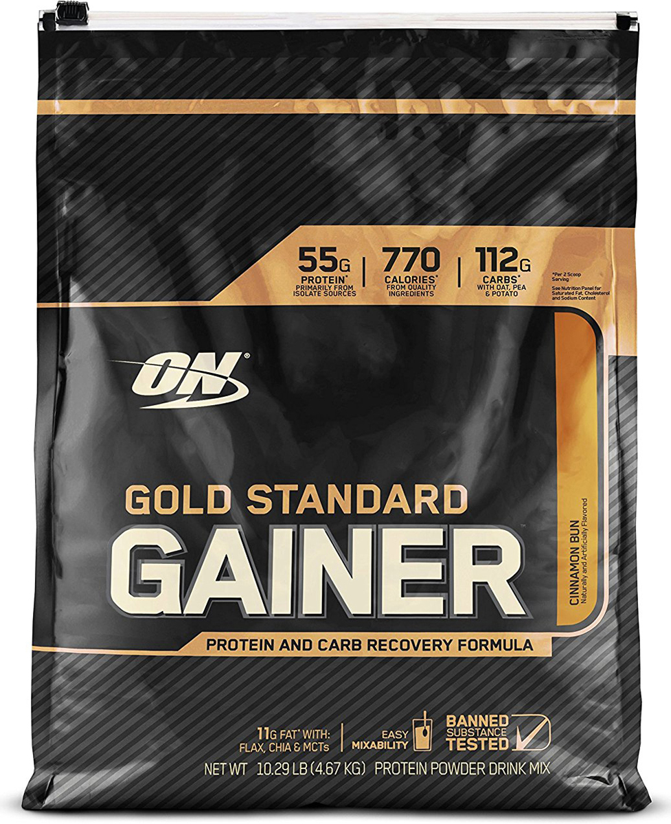 Гейнер Optimum Nutrition Gold Standard Gainer, булочка с корицей, 4,6 кг