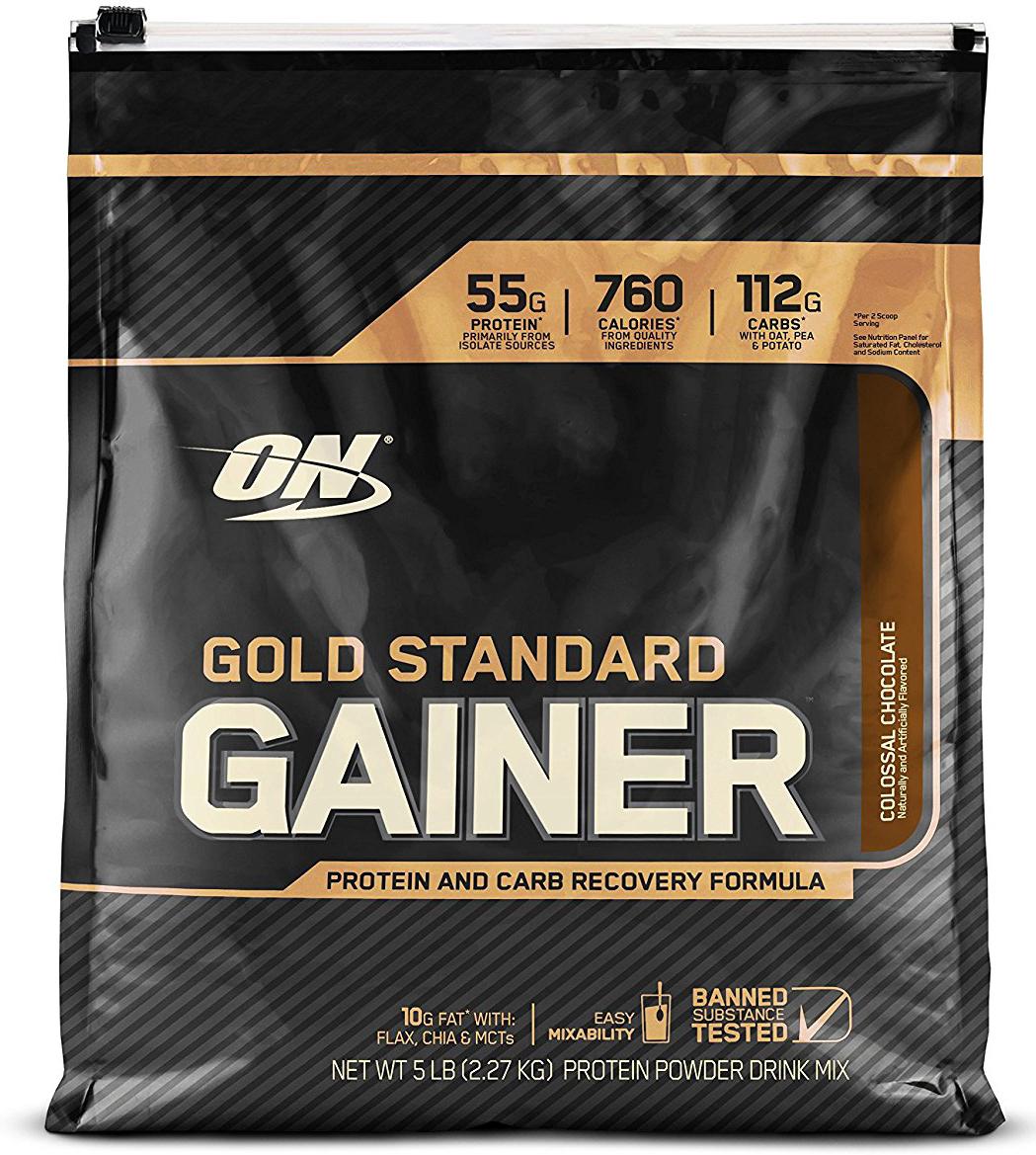 Гейнер Optimum Nutrition Gold Standard Gainer, шоколад, 2,26 кг748927055627Gold Standard Gainer от Optimum Nutrition - новый сбалансированный гейнер с оптимальным соотношением белков и углеводов - 1 к 2. Его база составлена из лучших смесей, где каждый ингредиент работает на результат. В состав гейнера входят медленно усвояемые углеводы высокого качества из овсяной муки, горохового и картофельного крахмала, несколько видов белка (основной ингредиент этого гейнера - сывороточный изолят) и только полезные жиры - из льяного масла, семян чиа и среднецепочных триглицеридов. Углеводная матрица этого гейнера обеспечит вам длительный заряд энергии и поможет восстановить запасы гликогена, белковая матрица (изолят сыворотки, концентрат сыворотки, изолят молочного протеина, гидролизованный изолят сыворотки) снабдит организм необходимыми для мышечного роста и восстановления аминокислоты, при этом не нагружая ЖКТ. Полезные для организма жиры, входящие в состав этого гейнера, быстро усваиваются и сразу же начинают работать на пользу организма: помогают усвоению многих витаминов и транспорту гормонов, участвуют в процессе формирования клеточных мембран, терморегуляции и других. Гейнер Gold Standard Gainer от Optimum Nutrition отлично подойдет тем, кто испытывает трудности при наборе массы, в том числе мышечной. Кроме того, этот продукт ускоряет восстановление, в том числе и ночное, в период интенсивных физических нагрузок.Состав: белковая смесь (изолят сывороточного белка, концентрат сывороточного белка, изолят молочного белка, гидролизованный изолят сывороточного белка), смесь углеводов (овсяная мука, гороховый крахмал [carb10®], картофельный крахмал), мальтодекстрин, натуральные и искусственные ароматизаторы, триглицериды со средней цепью, сливочник (подсолнечное масло, твердые вещества кукурузного сиропа, натрия казеинат, моно и диглицериды, дикалий фосфат, трикальций фосфат, соевый лецитин, токоферолы), лецитин, корица молотая, семена льна белок, соль, молотые семена чиа, каме