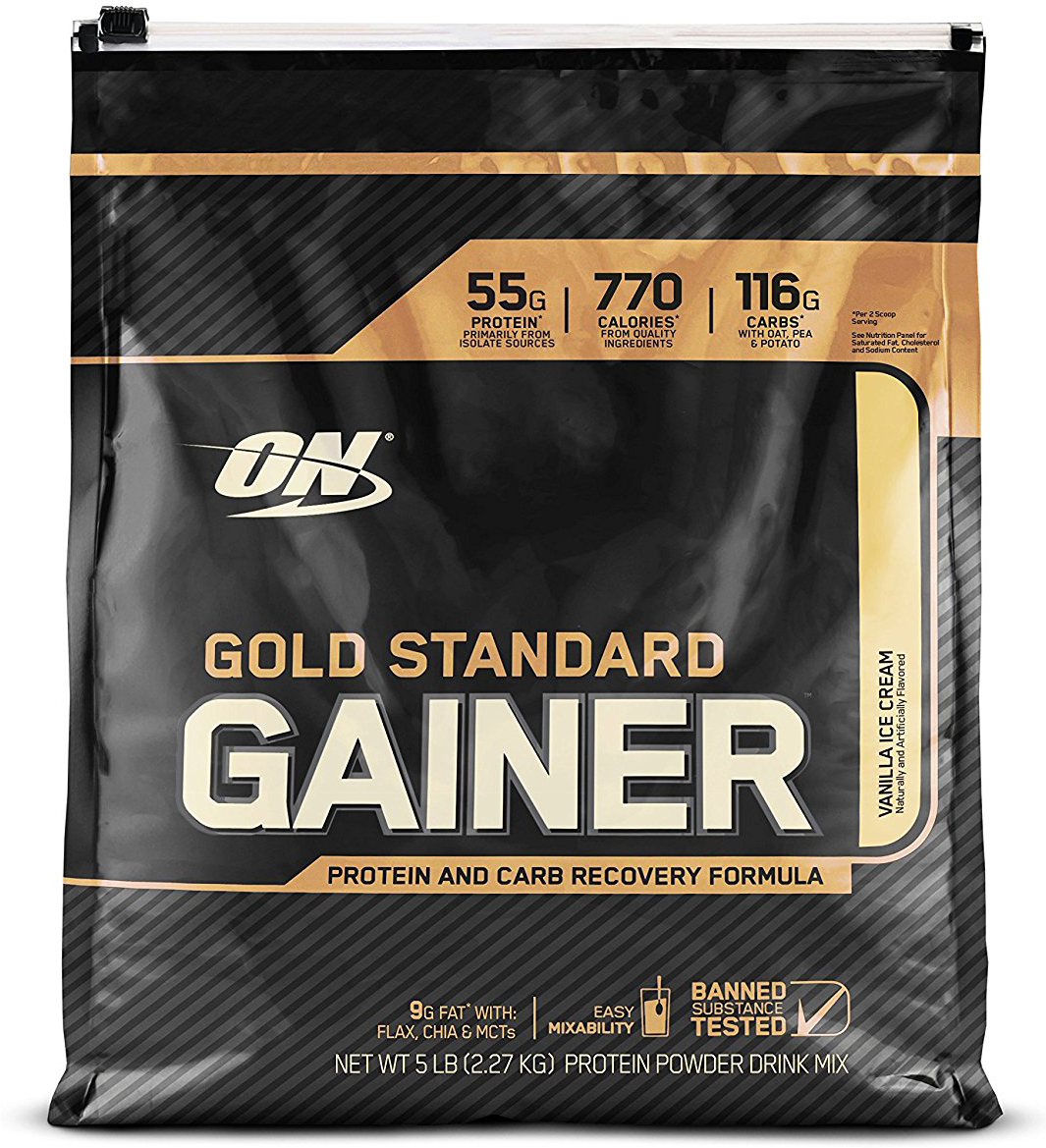 Гейнер Optimum Nutrition Gold Standard Gainer, ваниль, 2,26 кг постельные принадлежности для дома ultimate nutrition iso mass xtreme gainer soft van