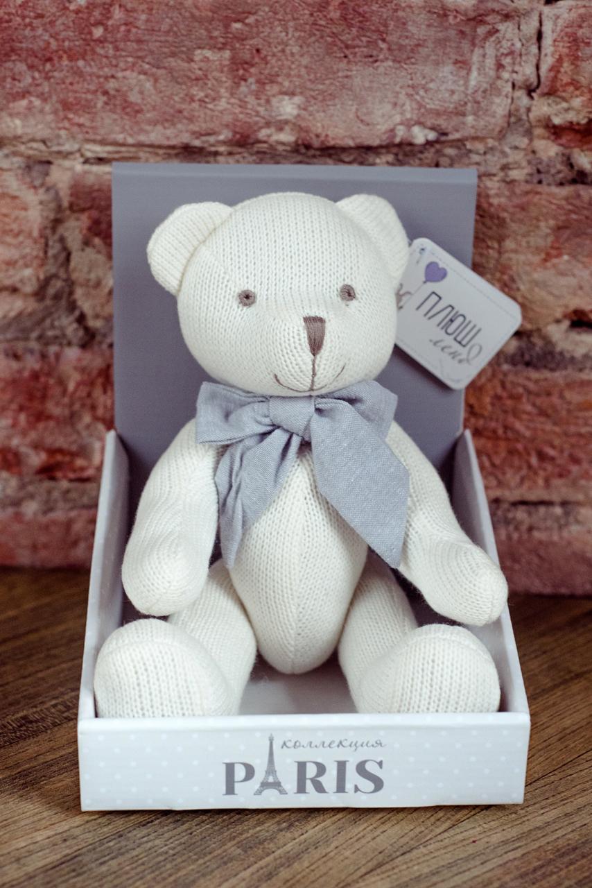 Плюш Ленд Мягкая игрушка Медведь вязаный 21 см фонарь maglite 2d синий 25 см в картонной коробке 947191